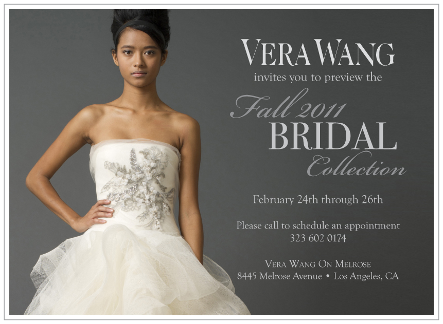 Vera Wang Trunk Show in Los Angeles Feb. 24-26 | The Special Day