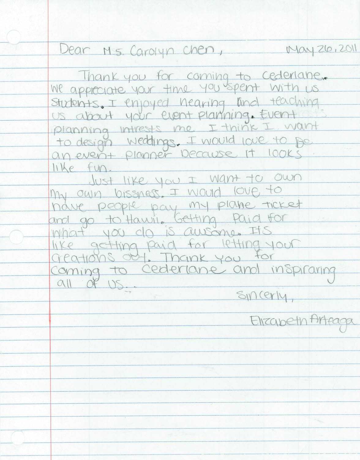 Our Invitation To Career Day At Cedarlane Academy In Hacienda